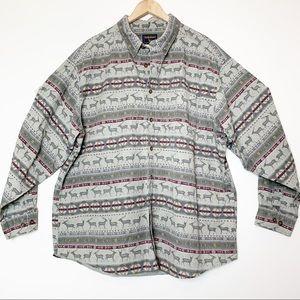 Vintage Woolrich Southwest Print Button Down Shirt
